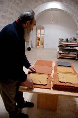 Helmut Dirnaichner in seinem Atelier