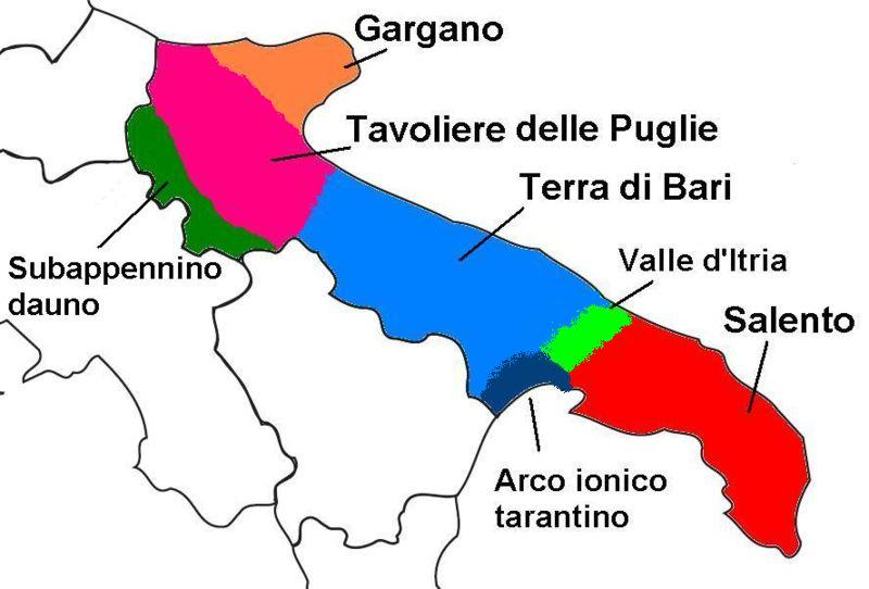 Die Landschaften Apuliens