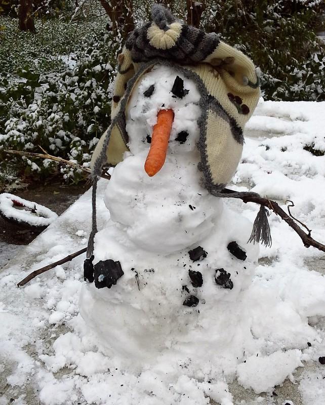 Winter 2014: kleiner Schneemann