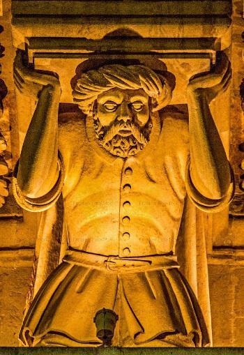 Detail Fassade S. Croce_Lecce türkischer Gefangener Foto: R. Franken